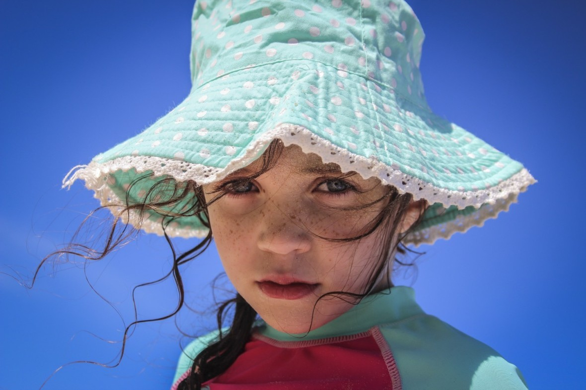 Girl at Caves Beach Newcastle NSW