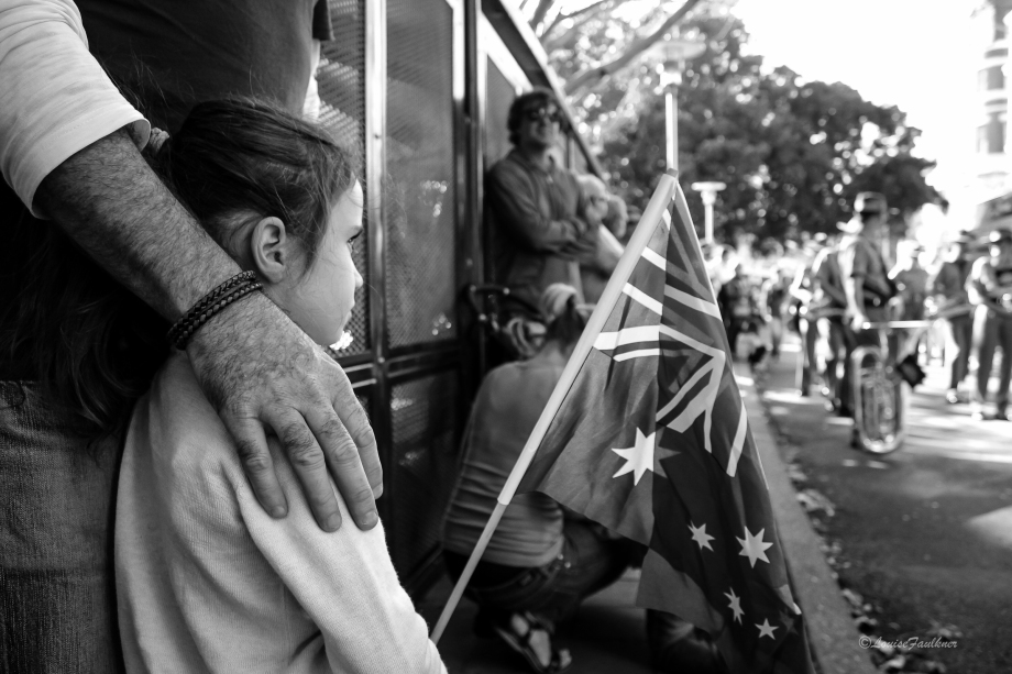 Anzac 8 - Belle with Australian Flag