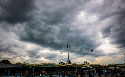 Storm approaching Lambton Pool