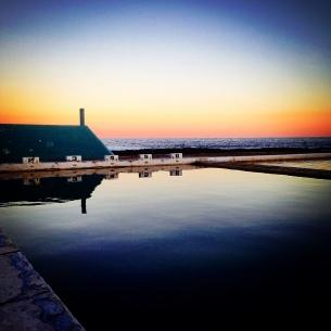 Newcastle Ocean Baths sunset