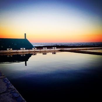 Newcastle Ocean Baths sunset.